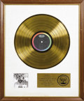 "Music Memorabilia:Awards, Beatles ""Revolver"" RIAA Gold Album Award. Presented to the Beatlesby the RIAA to commemorate the sale of 500,000 copies of ..."