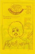 Music Memorabilia:Posters, Jimi Hendrix Experience Unused Winterland Tickets and Program(1968-69) Two Near Mint examples of Bill Graham Presents BG-14...(Total: 3 )