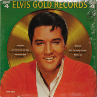 """""""Elvis' Gold Records Volume 4"""" Mono LP (RCA LPM-3921, 1968). Very rare mono version, compiling hits of the Kin..."""