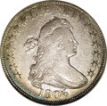 Early Half Dollars: , 1806 50C Pointed 6, Stem VF30 NGC. O-130, R.8. This is thediscovery piece for the new Overton-130 variety that Heritage Se...