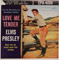 Music Memorabilia:Recordings, Elvis Presley EP Group of 4 (RCA, 1956-57). Very desirable group of the King's EPs, all with writing on the back covers nota... (Total: 4 Items)