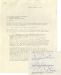 Music Memorabilia:Autographs and Signed Items, Beach Boys Contract Signed by Mike Love and Dennis and Carl Wilson.A two-page agreement between the Beach Boys and Internat...