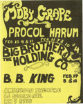 Music Memorabilia:Posters, Moby Grape/Big Brother and the Holding Company Anderson TheaterConcert Handbill (1968). The San Francisco band Moby Grape h...