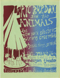 Music Memorabilia:Photos, Eric Burdon and the Animals Anderson Theater Concert Handbill(1969). New York's Anderson Theater was a happening place in t...