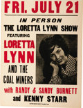 Music Memorabilia:Posters, Loretta Lynn and the Coal Miners Venue Poster (circa 1960s).Everyone's favorite coal miner's daughter came a long way from ...
