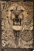 Music Memorabilia:Posters, Grateful Dead/Steppenwolf/Santana Fillmore West Concert PosterBG-134 (Bill Graham, 1968). This poster's Lee Conklin design ...