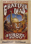 Music Memorabilia:Posters, Grateful Dead Europe 1990 Frankfort Festhalle Concert Poster (MarekLieberberg, 1990). An era was ending with this large pos...