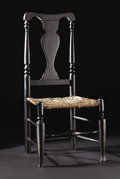 Furniture : American, An Early American Hudson River Valley Queen Anne Side Chair. Unknown maker, American. Early Eighteenth Century. Painted wo...
