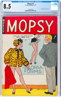 Mopsy #9 (St. John, 1950) CGC VF+ 8.5 Off-white to white pages