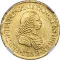 Colombia, Colombia: Ferdinand VI gold 2 Escudos 1759 PN-J UNC Details (Cleaned) NGC,...
