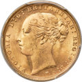 "Australia: Victoria gold ""St. George"" Sovereign 1886-M MS65 PCGS"