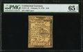 Continental Currency February 17, 1776 $1/6 PMG Gem Uncirculated 65 EPQ