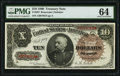Large Size:Treasury Notes, Fr. 367 $10 1890 Treasury Note PMG Choice Uncirculated 64.. ...