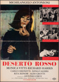 """Movie Posters:Foreign, The Red Desert (Cineriz, 1964). Folded, Fine. Italian Foglio (26.5"""" X 36.75""""). Foreign.. ..."""