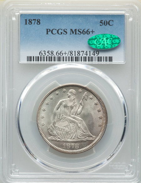 1878 50C, MS CAC PCGS Plus 66 PCGS