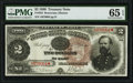 Large Size:Treasury Notes, Fr. 353 $2 1890 Treasury Note PMG Gem Uncirculated 65 EPQ.. ...