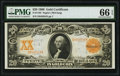 Large Size:Gold Certificates, Fr. 1183 $20 1906 Gold Certificate PMG Gem Uncirculated 66 EPQ.. ...