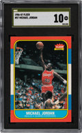 Basketball Cards:Singles (1980-Now), 1986 Fleer Michael Jordan #57 SGC Pristine 10--The Only Gold Label Example!...
