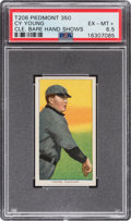 Baseball Cards:Singles (Pre-1930), 1909-11 T206 Piedmont 350/25 Cy Young (Bare Hand Shows) PSA EX-MT+ 6.5....