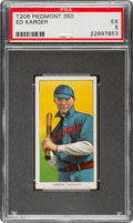 Baseball Cards:Singles (Pre-1930), 1909-11 T206 Piedmont 350 Ed Karger PSA EX 5 - Only Six Confirmed Piedmont 350 Examples! ...