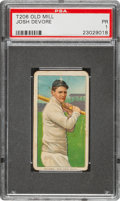 Baseball Cards:Singles (Pre-1930), 1909-11 T206 Old Mill Josh Devore PSA Poor 1 - Only Three Confirmed Old Mill Backs! ...