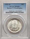 1951-D 50C Booker T. Washington MS66+ PCGS. PCGS Population: (361/49 and 42/9+). NGC Census: (202/43 and 8/9+). CDN: $80...
