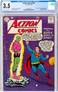 Action Comics #242 (DC, 1958) CGC VG- 3.5 Cream to off-white pages