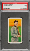 Baseball Cards:Singles (Pre-1930), 1909-11 T206 Old Mill Zack Wheat PSA NM 7 - The Finest of Only Three Confirmed Old Mill Backs! ...