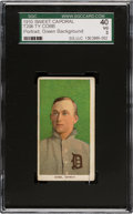 Baseball Cards:Singles (Pre-1930), 1909-11 T206 Sweet Caporal 350/30 Ty Cobb SGC 40 VG 3 - Reverse Cobb Ghost Image. ...