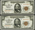 Fr. 1880-I $50 1929 Federal Reserve Bank Notes. Two Examples. Very Fine