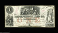 Obsoletes By State:Iowa, Anamosa, IA- Wapsipinicon Land Co. $1, $3 Mar. 4, 1858 ... (2notes)