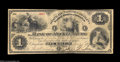 Charlotte, NC- The Bank of Mecklenburg $1 Mar. 2, 1874A very scarce note, as are all of the early issues from here lacki...