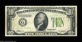 Error Notes:Inverted Reverses, Fr. 2004-G $10 1934 Inverted Reserve Light Green Seal ...