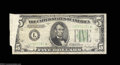 Error Notes:Foldovers, Fr. 1956-L* $5 1934 Mule Federal Reserve Note. Fine-Very ...