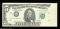 Error Notes:Major Errors, Fr. 1978-L $5 1985 Federal Reserve Note. About Uncirculated.
