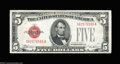 Small Size:Legal Tender Notes, Fr. 1529 $5 1928D Mule Legal Tender Note. Extremely Fine-...