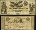 Obsoletes By State:Louisiana, New Orleans, LA- Bank of Louisiana Fine.. $5 Jan. 14, 1862;. $10 May 22, 1862.. ... (Total: 2 notes)