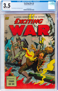 Exciting War #6 (Standard, 1952) CGC VG- 3.5 Off-white to white pages