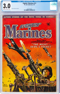 Fightin' Marines #11 (St. John, 1953) CGC GD/VG 3.0 Cream to off-white pages
