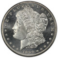Morgan Dollars: , 1899-O $1 MS65+ Deep Mirror Prooflike PCGS. PCGS Population: (42/20 and 2/2+). NGC Census: (20/7 and 0/0+). CDN: $1,200 Whs...