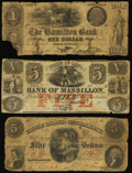 Obsoletes By State:Rhode Island, East Greenwich, RI- Rhode Island Central Bank $5 Oct. 1, 1855 VG;. North Scituate, RI- Hamilton Bank $1 Feb. 14, 184... (Total: 3 notes)