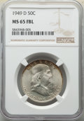 Franklin Half Dollars, 1949-D 50C MS65 Full Bell Lines NGC. NGC Census: (233/9). PCGS Population: (892/108). CDN: $300 Whsle. Bid for NGC/PCGS MS6...