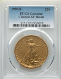 1909/8 $20 -- Cleaned -- PCGS Genuine. XF Details. Mintage 161,282....(PCGS# 9151)