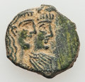 Ancients:Oriental, Ancients: NABATAEAN KINGDOM. Rabbel II and Queen Gamilath (AD 70-106). AE (16mm, 2.59 gm, 11h). About XF....