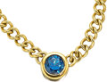 Estate Jewelry:Necklaces, Sapphire, Gold Necklace, Reign. ...