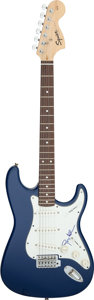 Musical Instruments:Electric Guitars, Gregg Allman Signed Pickguard on a Fender Squier Strat Electric Guitar (Serial #CY10412719)....
