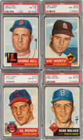 Baseball Cards:Lots, 1953 Topps Baseball PSA NM-MT 8 Collection (4). ... (Total: 4 items)