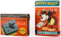 Memorabilia:Disney, Mickey Mouse and his Big Little Kit Coloring Set and Mother Goose Stencils Group of 2 (c. 1930s).... (Total: 2 Items)