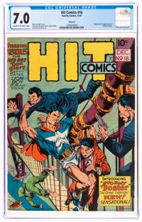 Hit Comics #18 Rockford Pedigree (Quality, 1941) CGC FN/VF 7.0 Cream to off-white pages