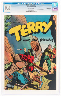 Four Color #101 Terry and the Pirates - Crowley Copy Pedigree (Dell, 1946) CGC NM+ 9.6 Off-white to white pages